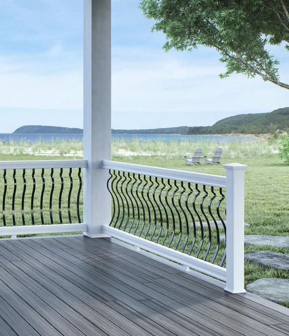 veranda vinyl stair railing kit freedom assembled 6ft x 3ft versarail black aluminum deck love. Black Bedroom Furniture Sets. Home Design Ideas